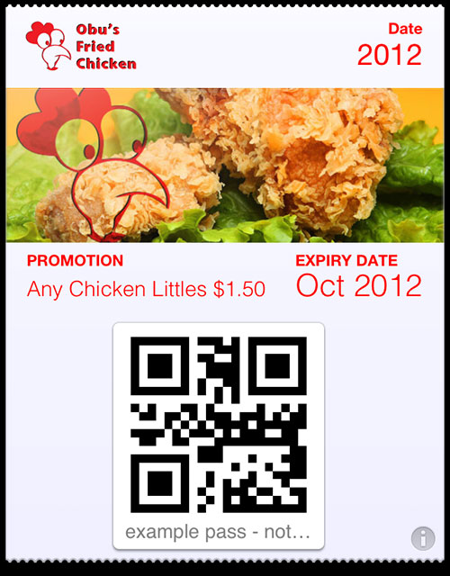 passbook pass fried chicken